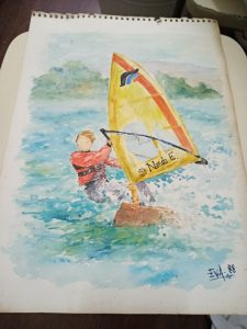 acuarela windsurf nando eva liberal