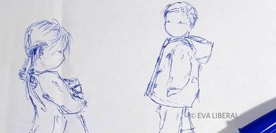 portada ilustraciones infantiles boli acuarela eva liberal