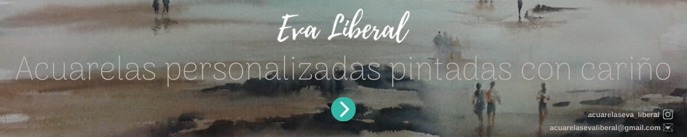 banner acuarelas personalizadas con cariño eva liberal
