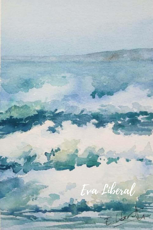olas del mar acuarelas marinas eva liberal contacto