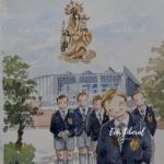 recordatorios infantiles personalizadas para comunion de colegio uniformes