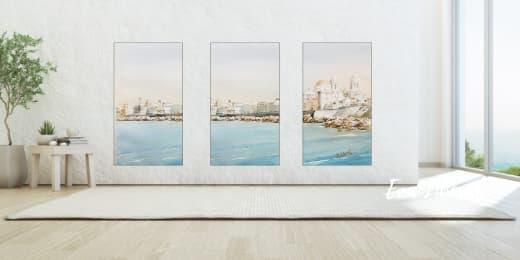 composicion-trio-vertical-paisaje-como-decorar-una-pared-acuarelas-eva-liberal